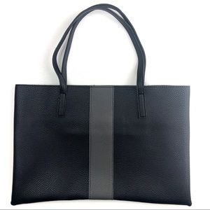 Vince Camuto Large Black Vegan Leather Tote Bag